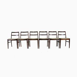 Esszimmerstühle aus Palisander von Arne Vodder für Sibast, 6er Set