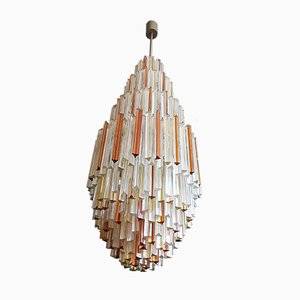 French Murano Glass Chandelier, 1974