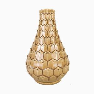 Jarrón en forma de piel de reptil de cerámica de Ewald Dahlskog para Bofajans, años 40