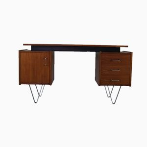 Mid-Century Dutch Desk with Steel Hairpin Legs, 1960s