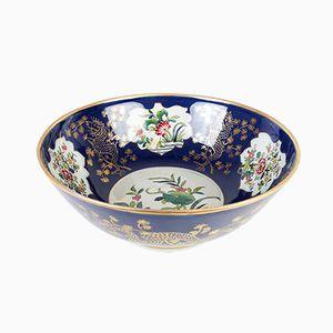 Large Antique Porcelain Punch Bowl from Samson