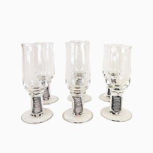 Bicchieri grandi in vetro artistici di Erik Höglund, Svezia, 1992, set di 6