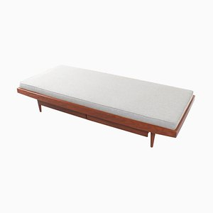 Skandinavisches Tagesbett aus Teak mit Schubladen, 1960er