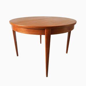 Extendable Teak Round Table, 1960s
