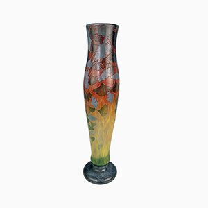 Art Nouveau Ginkgo Leaves Vase from Daum, 1900s