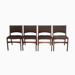 Dänische Stühle von Johannes Andersen, 1960er, 4er Set
