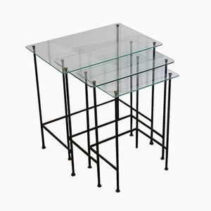 Vintage French Nesting Tables, 1950s