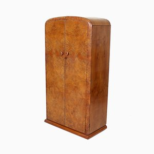 Art Deco Walnut Compactum Wardrobe, 1930s