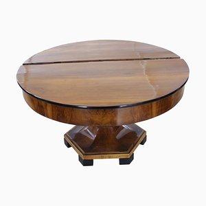 Großer erweiterbarer Biedermeier Tisch aus Nussholz
