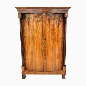 Biedermeier Schrank mit gewölbten Türen, 1820er