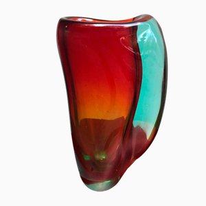 Jarrón vintage de cristal de Murano, años 60