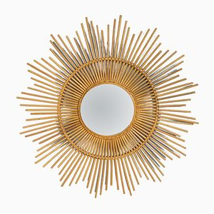 Rattan Sun Mirror, 1960s