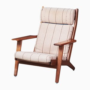 GE290A Oak Lounge Chair by Hans J. Wegner for Getama, 1960s