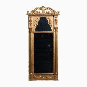Antiker französischer Empire Spiegel mit vergoldetem Rahmen, 1800er