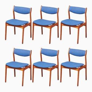 Teak Dining Chairs by P. E. Jørgensen for Farsø Stolefabrik, 1960s, Set of 6