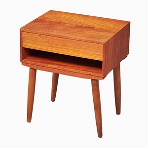 Danish Teak Bedside Table, 1960s