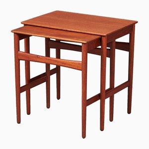 Tavolini ad incastro di Hans Wegner per Andreas Tuck, anni '50