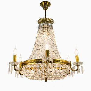 Crystal 12-Light Chandelier, 1950s
