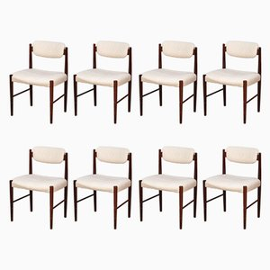 Danish Rosewood Dining Chairs, 1950s, Set of 8