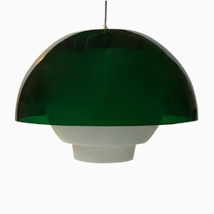 Vintage Danish Green Pendant Lamp by Bent Karlby for A. Schroder Kemi, 1970s