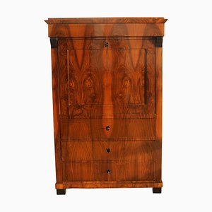 Biedermeier German Walnut Veneer Secretaire, 1820s