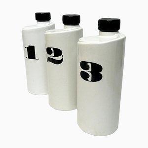 Bottiglie vintage industriale in ceramica, anni '70, set di 3