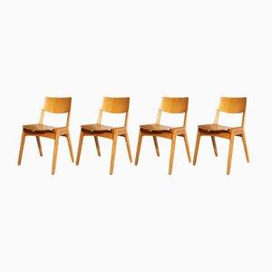 Chaises Empilables Industrielles, 1950s, Set de 4