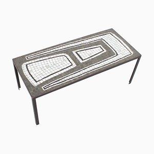 Tavolino da caffè mosaicato in ceramica, anni '70
