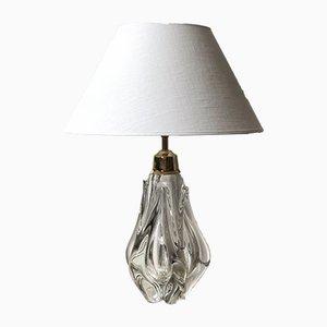 Lámpara de mesa de cristal de Bohemia