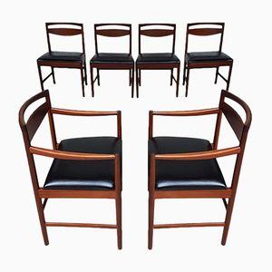 Set di quattro sedie da pranzo e due sedie Carver Mid-Century vintage di McIntosh