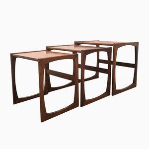Tavolini ad incastro Mid-Century moderni in teak di G-Plan, anni '60