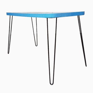 Mid-Century Formica Dining Table with Hairpin Legs, 1950s