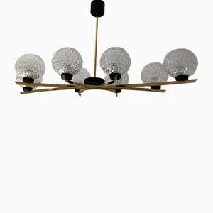 Large Chandelier from Arlus, 1950s
