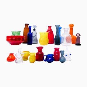 Vases Vintage en Verre Artisanal par Erik Höglund pour Boda, Set de 21