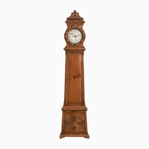19th-Century Danish Pine Grandfather Clock from W. F. Fog