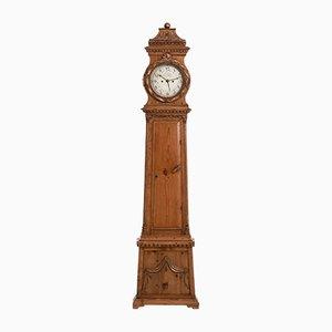 Reloj de caja alta danés de pino de W. F. Fog