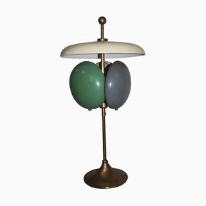 Mid-Century Italian Lacquered Metal Table Lamp, 1950s