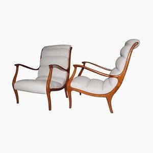 Italienische Mid-Century Sessel von Arredamenti Corallo, 1950er, 2er Set