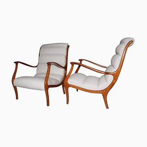 Mid-Century Italian Armchairs from Arredamenti Corallo, 1950s, Set of 2