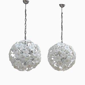 Murano Glass Sputnik Chandeliers, 1960s, Set of 2
