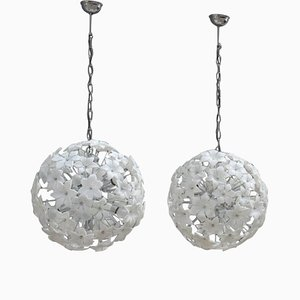 Murano Glass Sputnik Chandeliers, 1960s, Set of 2
