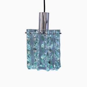 Mid-Century Italian Crystal Ceiling Lamp