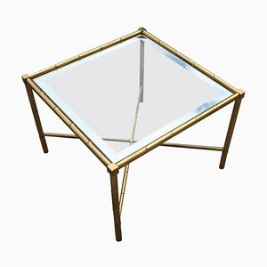 Italian Solid Brass & Glass Coffee Table, 1970s