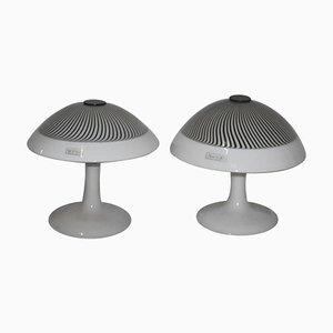 Tischlampen aus Muranoglas von Lino Tagliapietra für Effetre International, 1980er, 2er Set