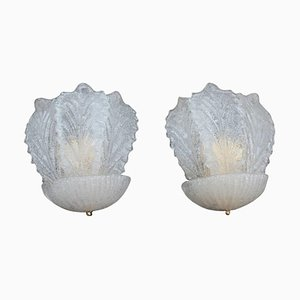 Italian Murano Art Glass Sconces, 1980s, Set of 2