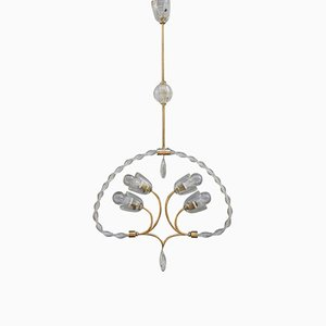 Italian Murano Glass Chandelier, 1940s