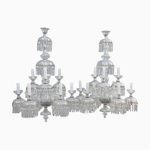 9-Light Chandeliers, 1950s, Set of 2
