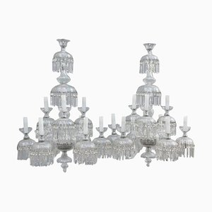 Kronleuchter mit 9 Leuchtstellen, 1950er, 2er Set