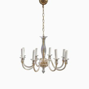 Lámpara de araña de cristal, años 70