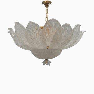 Lámpara de araña italiana de cristal de Murano, años 70